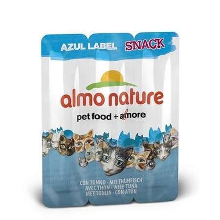 ALMO NATURE Azul Label Snack - τόνος 3x5g